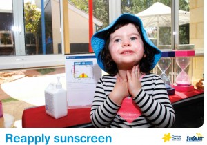 Reapply sunscreen